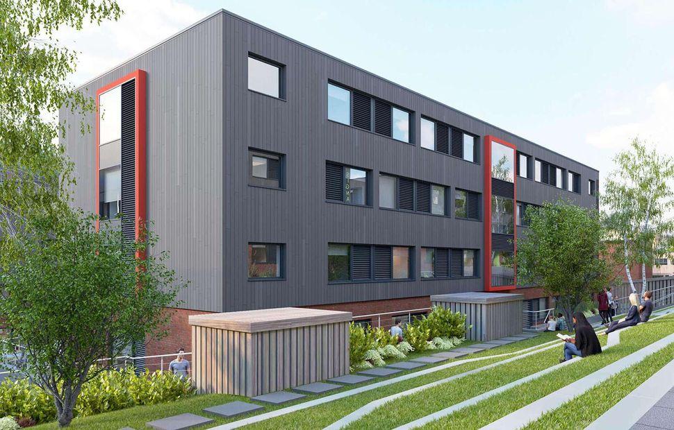 New accommodation blocks at UCA Farnham