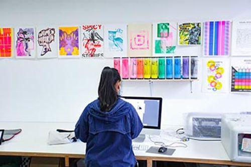 Graphics Print Room, UCA Canterbury
