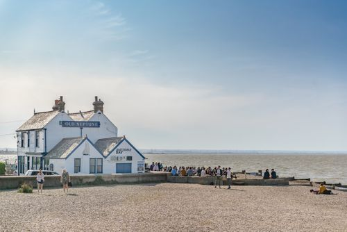 Old Neptune Pub at Whitstable coast