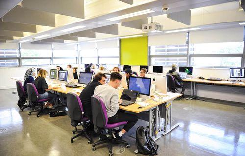 Computer suite at UCA Epsom