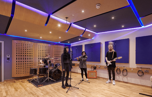 Recording studio, Film & Media Centre, UCA Farnham