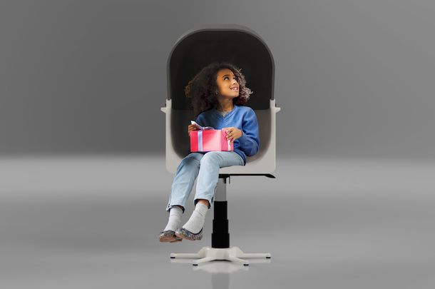 A chair design by Nathan Spiers for children with autism