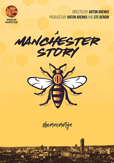 Poster for A Manchester Story depicting the iconic bee symbol
