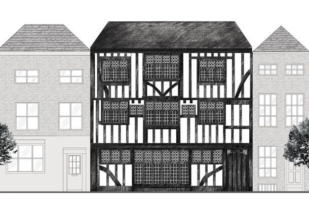 Rachel Carabine-Clarke's front elevation design for Conquest House