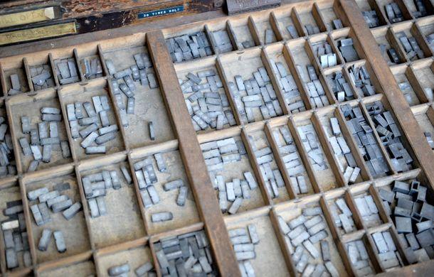 Letterpress print room, UCA Epsom