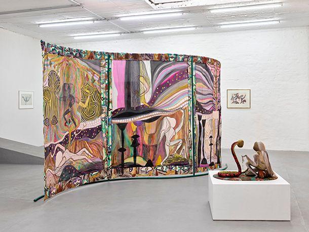 Emma Talbot, Installation view from Emma/Ursula 2020  Petra Rinck Galerie, Düsseldorf Photo ©Achim Kukulies