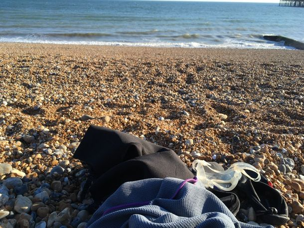 Brighton Beach and the welcoming sea