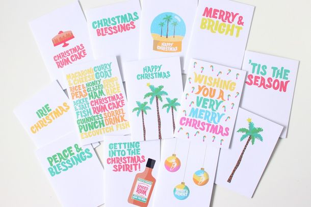 Christmas with a Caribbean twist — festive cards by Tihara Smith