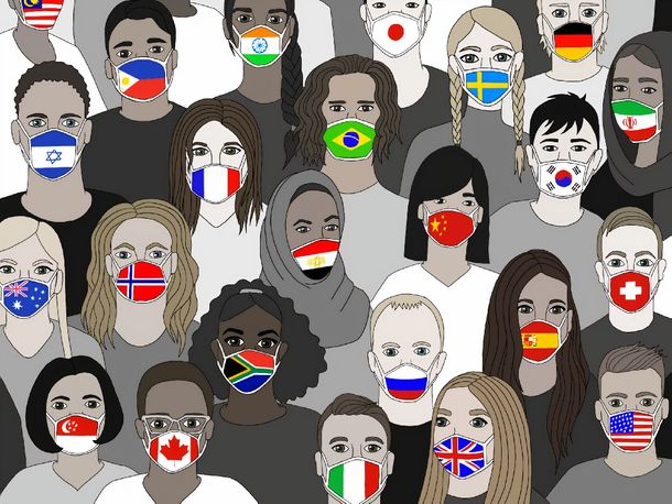 Face coverings are part of the global response to COVID-19 — and now they'll be required on campus. Picture courtesy of the UN