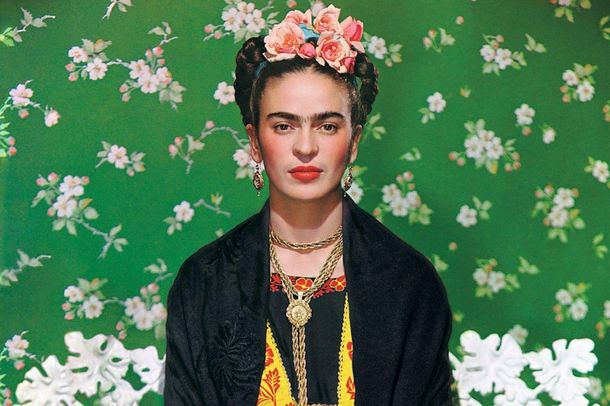Frida Kahlo, pictured here on the cover of Vogue magazine, learned her incredible talent while housebound