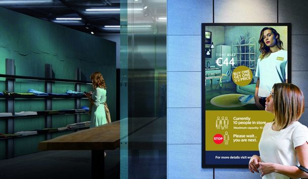 The Philips designed PeopleCount system for safer shopping. Picture courtesy of Philips