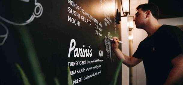 Foundation student turns graphic talent into blackboard business