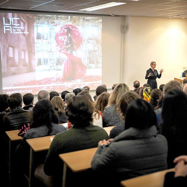 Open day talk in lecture theatre
