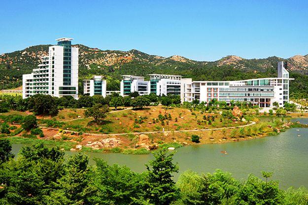 Outdoor view of Xiamen University, China