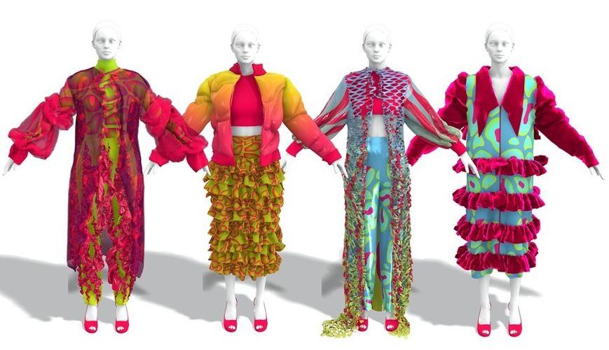 Grace Moore winning design UCA 3D Digital Garment Awards 2021