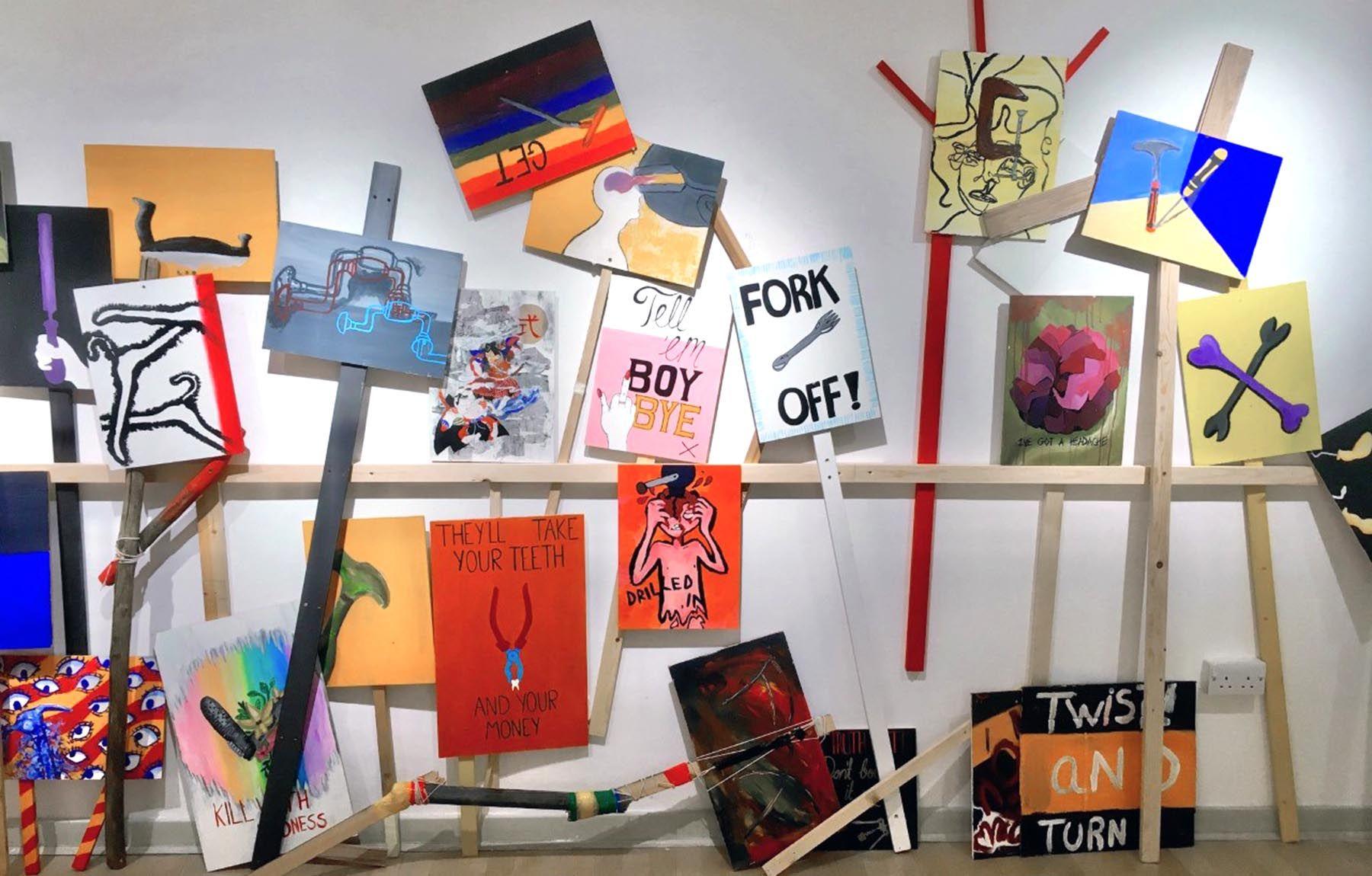 FE show, Zandra Rhodes Gallery, UCA Rochester