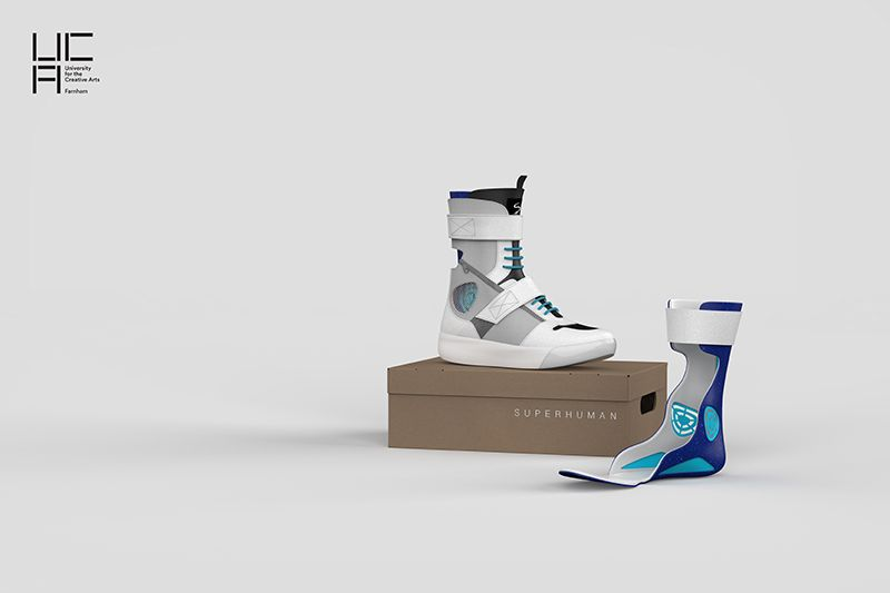 The 'Superhuman Shoe' designed by UCA student Anna Lis