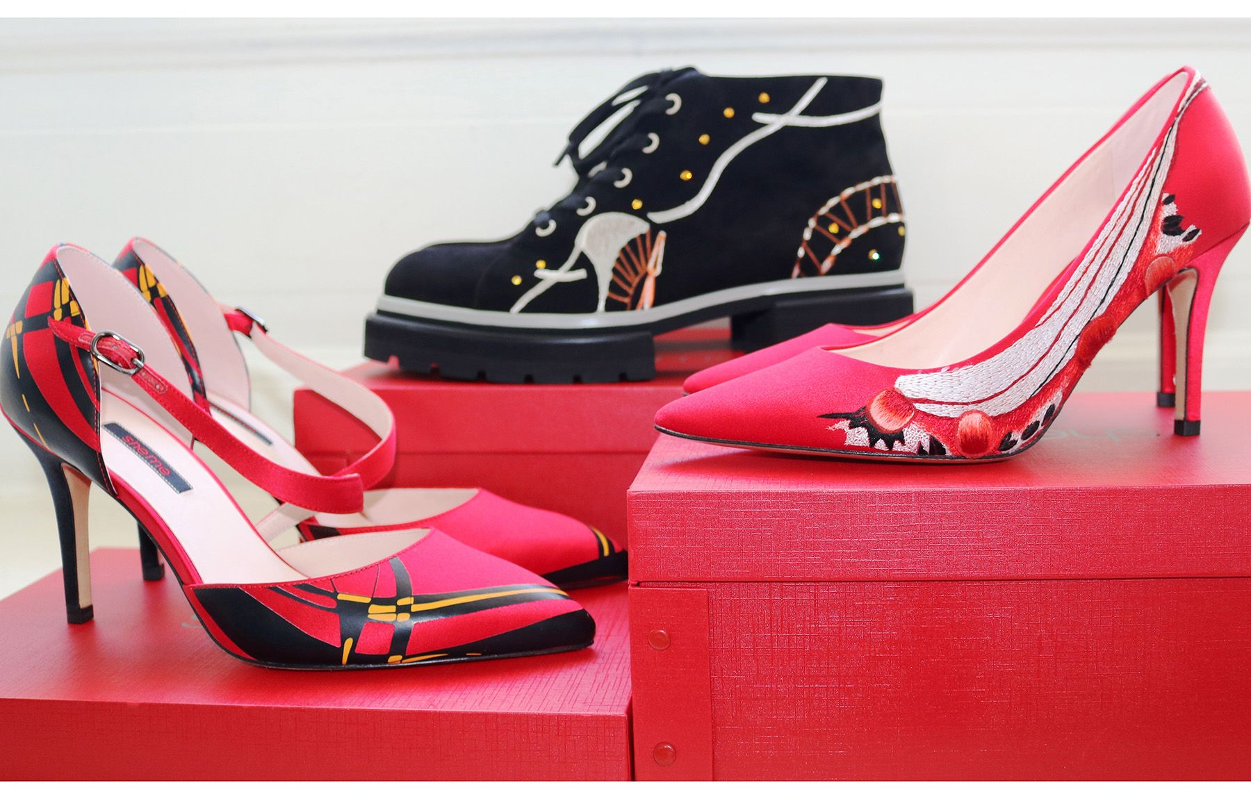 Royal School of Needlework + Sheme shoes