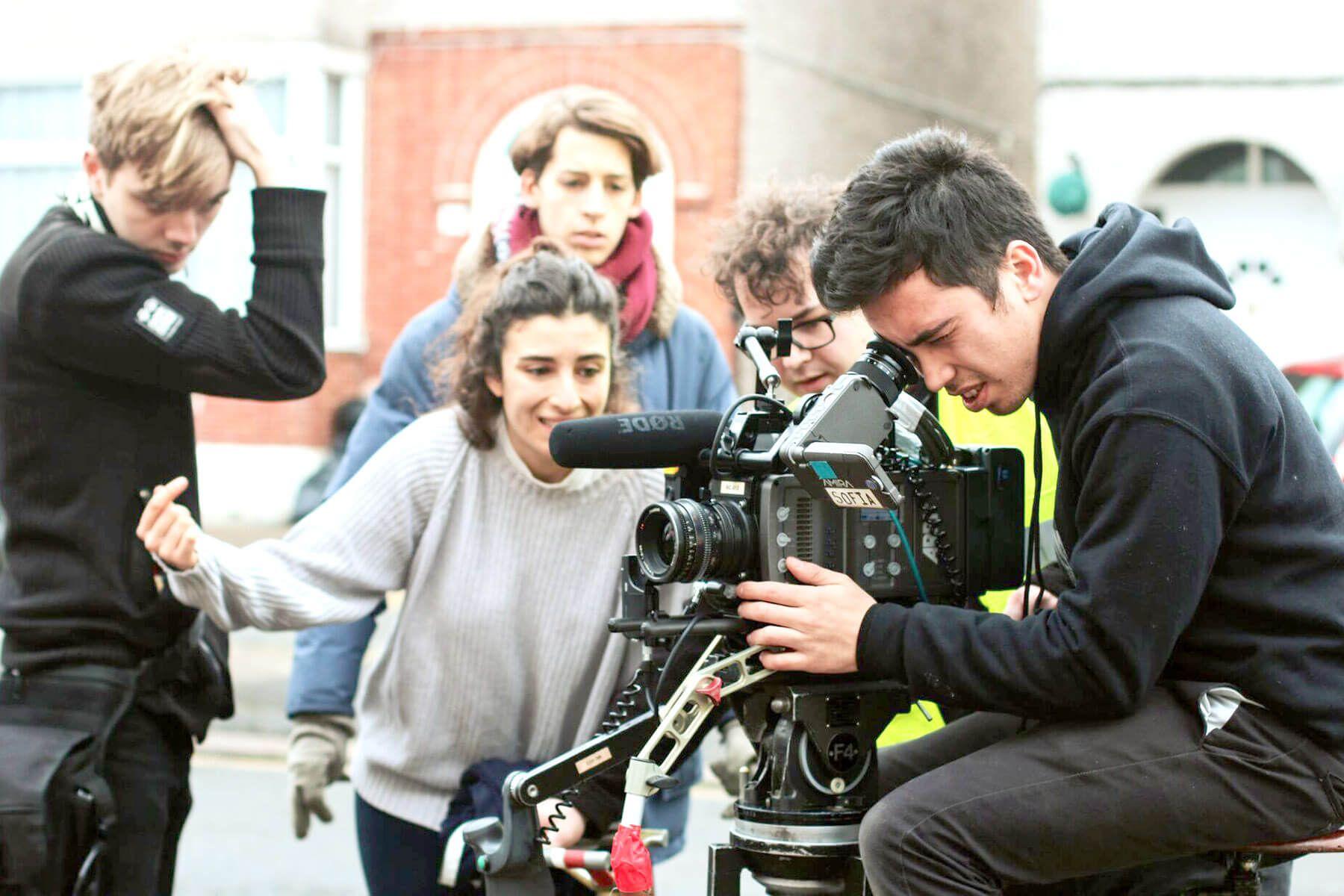 Film students on set of Nail - Photo by Rachel Kiki