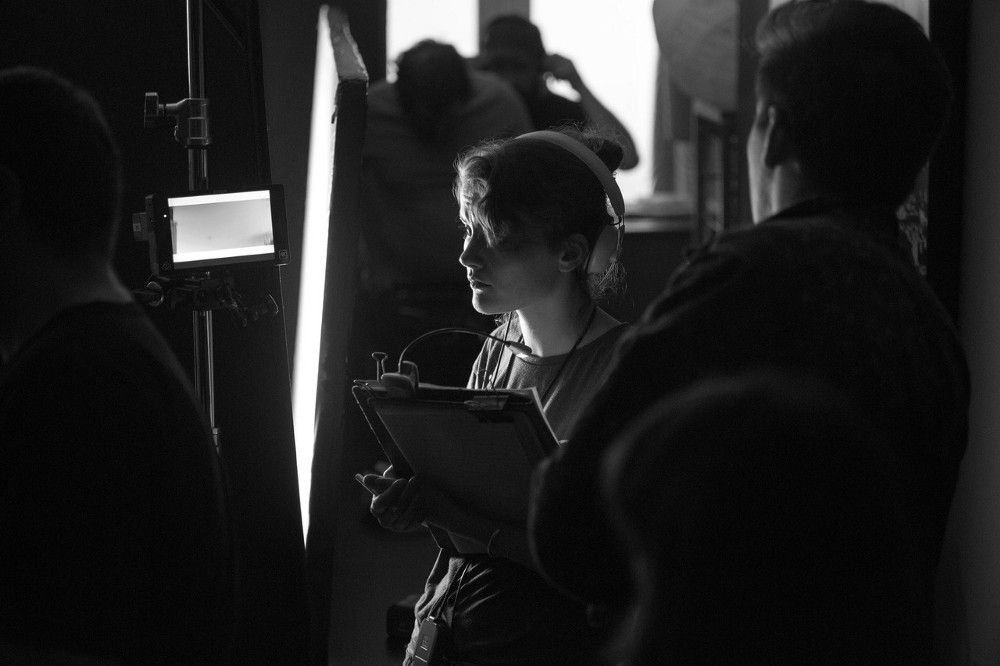 Script supervisor and UCA graduate Lucy Noble on set